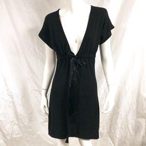 AUTUMN CASHMERE Black Cashmere Sweater Dress